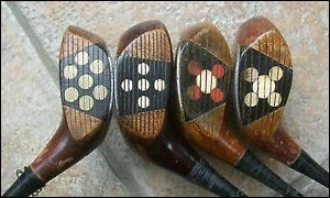 Vintage Wooden Hickory Shaft Drivers